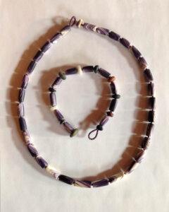Hazard wampum necklaces.
