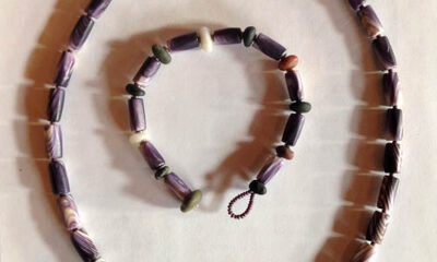 Hazard wampum necklaces.