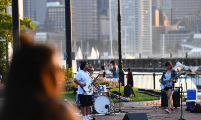 Zumix performs on the waterfront in East Boston
