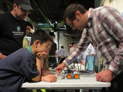 Robotics demo at Cambridge Science Festival.