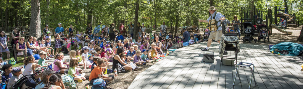 Outdoor performance at the Ecotarium