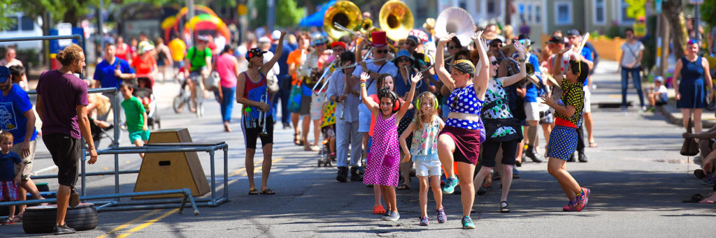 Community parade in Somerville, MA.