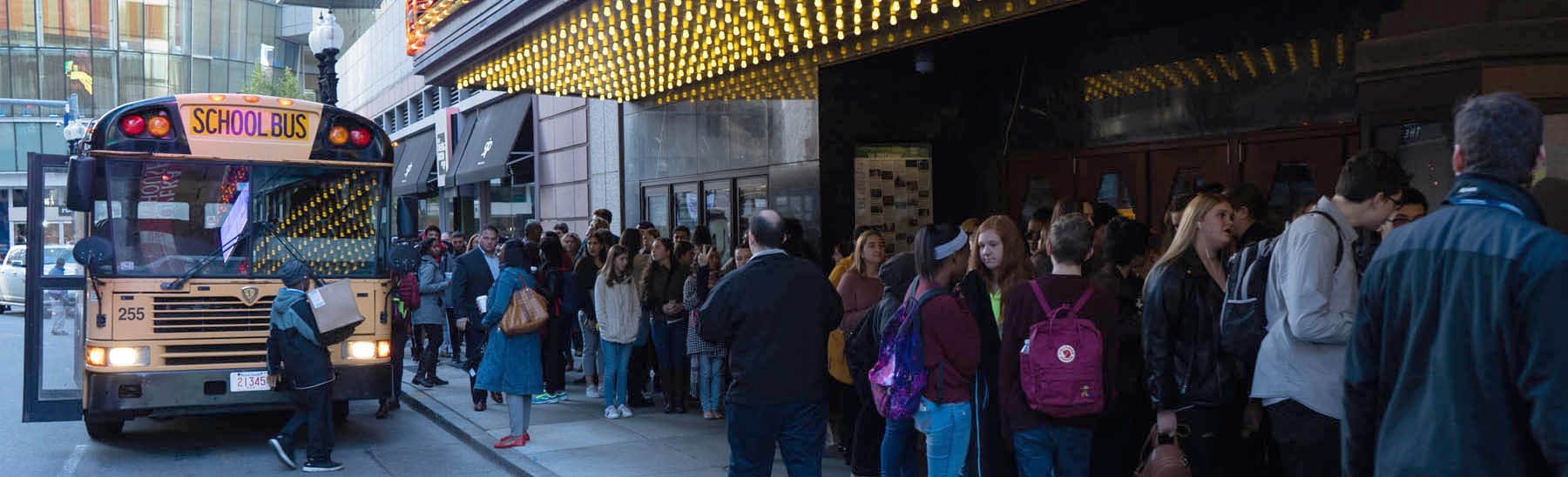 Students going to see Hamilton in Boston.
