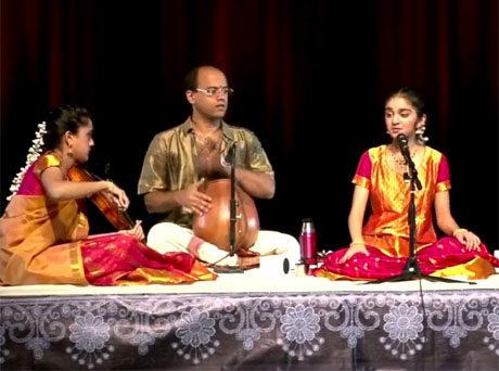Still from Diya Goadavarti performing Karapaga Manohara-Ragam Malayamarutham, 2017.
