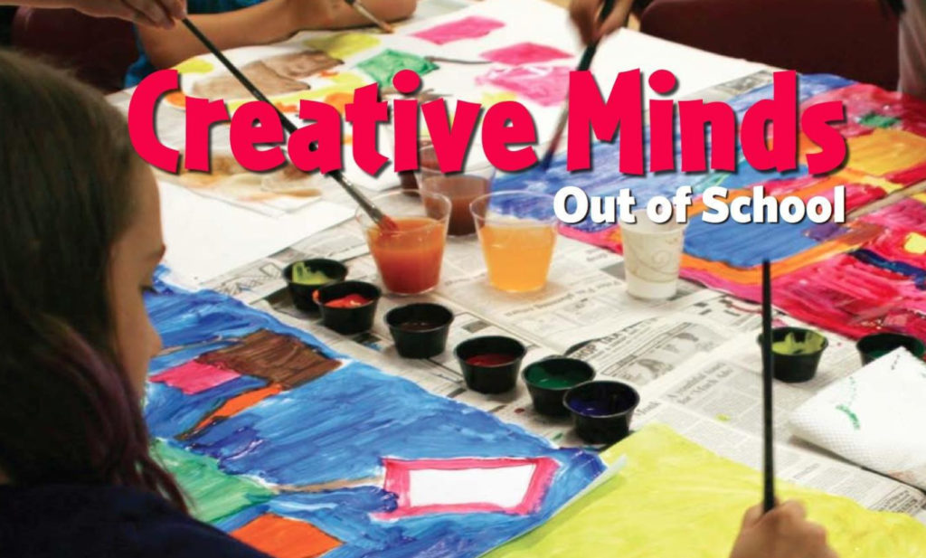 Cover art from the Creative Minds Out of School Time curriculum book