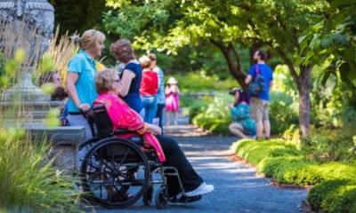 Visitors enjoy Tower Hill Botanic Garden's Free After Three Summer Thursdays.