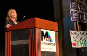 Anita Walker speaking at MASSCreative's Arts Advocacy Day