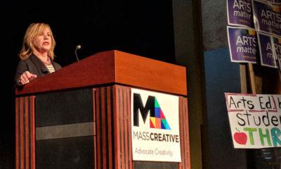 Anita Walker speaking at MASSCreative's Arts Advocacy Day