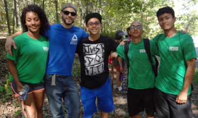 Groundwork Lawrence's Green Team at Den Rock Park Hike.