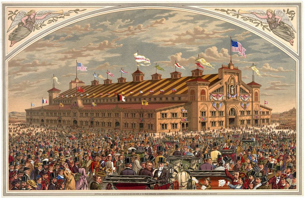 Noble & Cooley illustration of National Peace Jubilee, courtesy Boston Public Library.