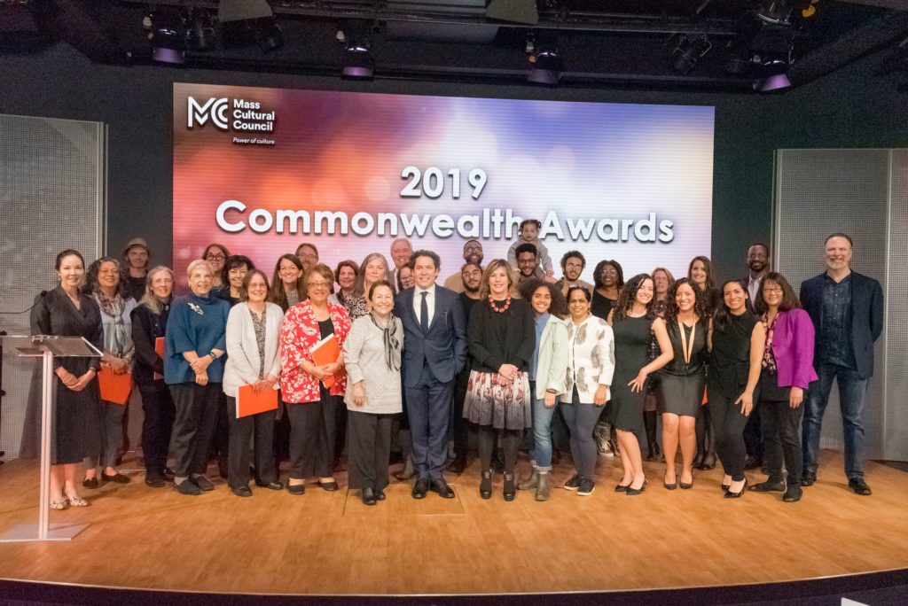 2019 Commonwealth Awards Finalists and select guests on stage at CitySpace