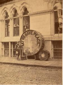 Large Noble & Cooley drum, courtesy Boston Public Library.