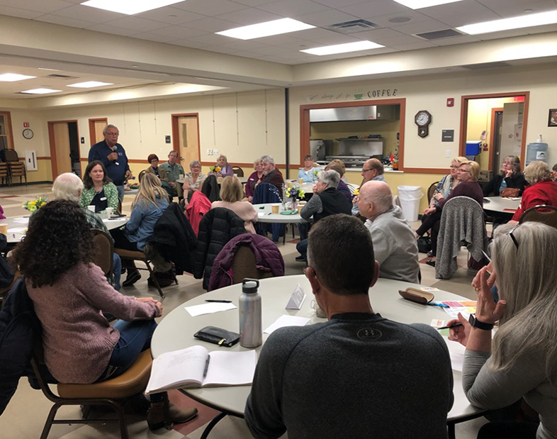 Members of the Sterling Cultural Council host a community input session to gather input for a new arts umbrella organization.