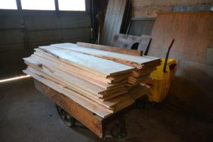 Delivered maple slabs