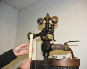 Ladys leg steam engine