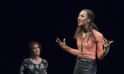 Bianca Leigh and MJ Rodriguez in Trans Scripts, Part I - The Women. Photo courtesy of American Repertory Theater. Image by GretjenHelene.com.
