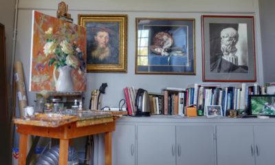 Jean Lightman's studio at Umbrella Community Arts Center, in Concord