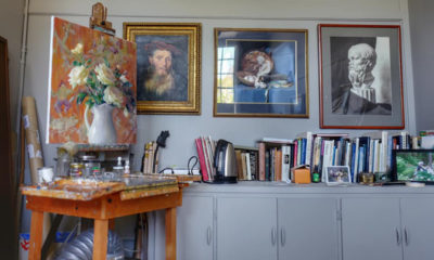 Jean Lightman's studio at Umbrella Community Arts Center, in Concord