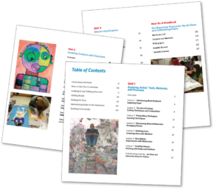 Table of Contents pages for Creative Minds Out of School