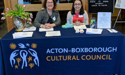Acton Boxborough's 2019 reception with Natalie working the entrance table with another member Judy Romatelli.