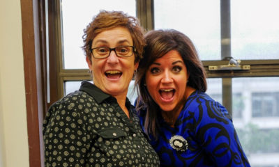 Cultural District Director Carolyn Cole with Marketing Consultant Carla Scheri.