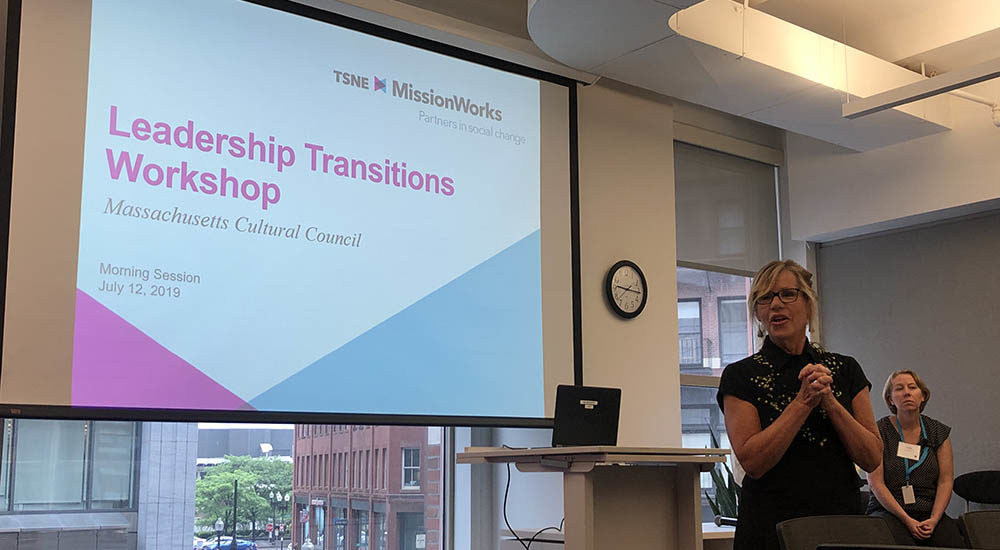 Anita Walker opens a leadership transitions workshop