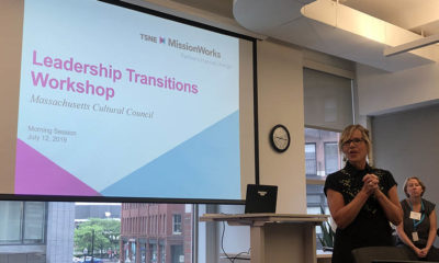 Anita Walker opens a leadership transitions workshop