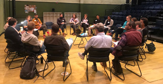 Initial convening of the Creative Youth Development Teaching Artist Fellowship Pilot Program.
