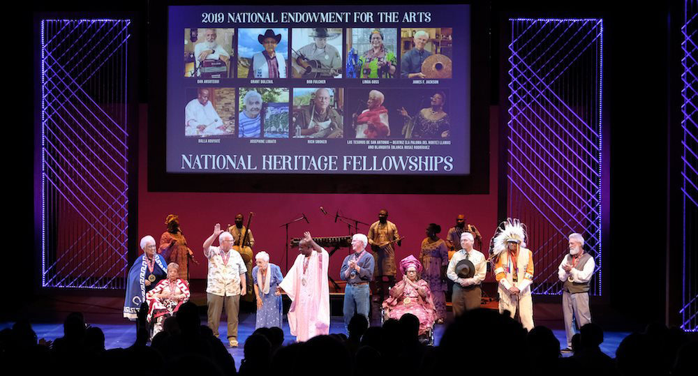 Final bow at the 2019 NEA National Heritage Fellowships Concert. Photo by Tom Pich.