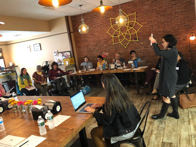 Festivals Audience Lab participants meeting in October 2019. Photo: Catherine Peterson.