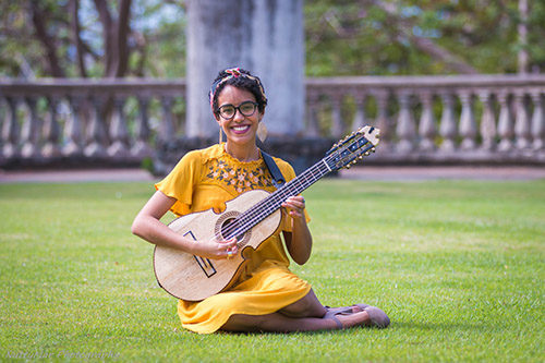 Fabiola Mendez is playing at the Arlington Street Church, Boston's Literary Cultural District, as part of Fair Saturday on November 30. Image: Nuttymar Photography.