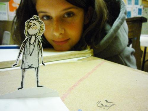 A teen participant in an Art Garden program.
