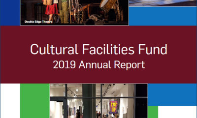 Cover art from the 2019 Cultural Facilities Fund Annual Report
