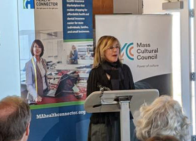 Anita Walker speaks at ConnectorCare Card to Culture launch event