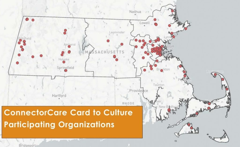 map of ConnectorCare Card to Culture Participating Organizations