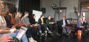 Artist workspace meeting held in Cambridge, MA.