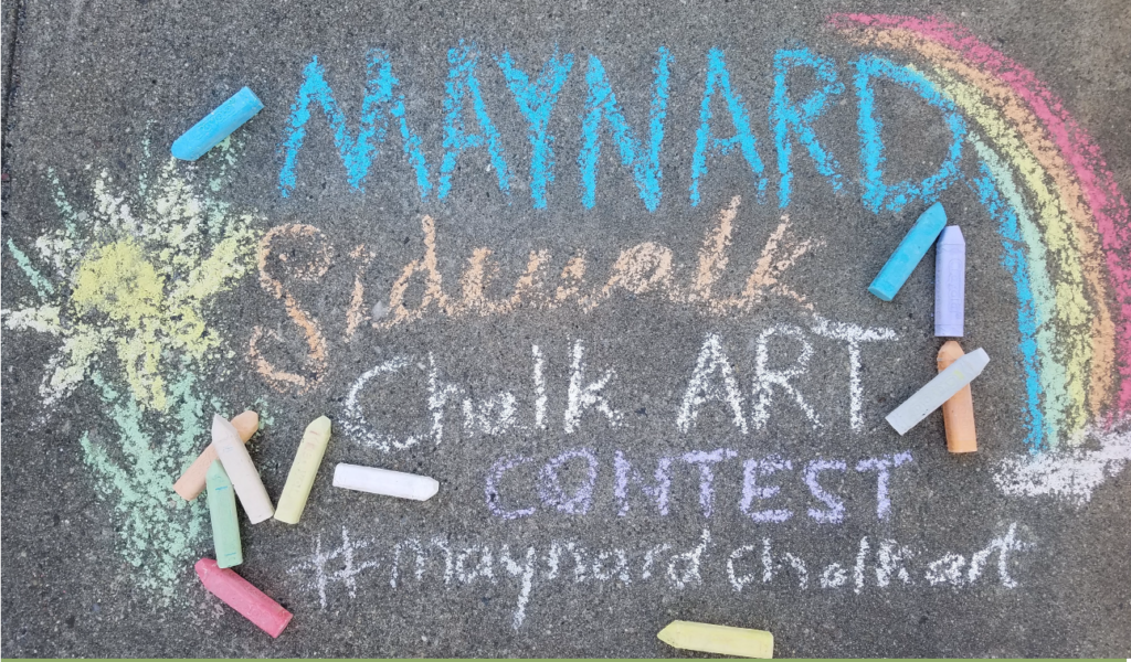 Chalk drawing advertising Maynard's Sidewalk Chalk Art Content