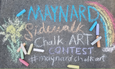 Chalk drawing advertising Maynard's Sidewalk Chalk Art Content