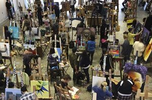 Artists for Humanity crowded studio space