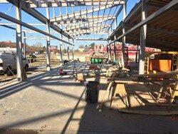 Construction of Blackstone Valley National Heritage Corridor exhibit hall