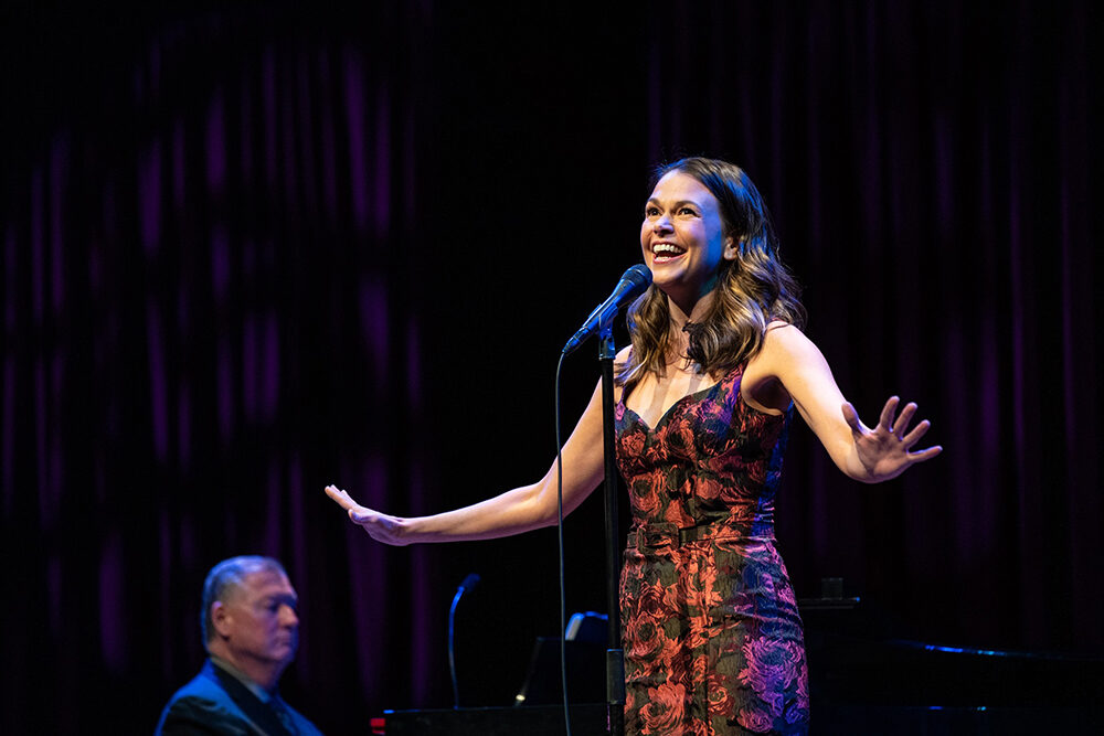 Sutton Foster sings in a performance presented by Celebrity Series.