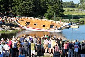 Ship launch. Photo by Len Burgess.