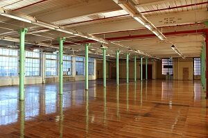 Space in Eastworks mill building
