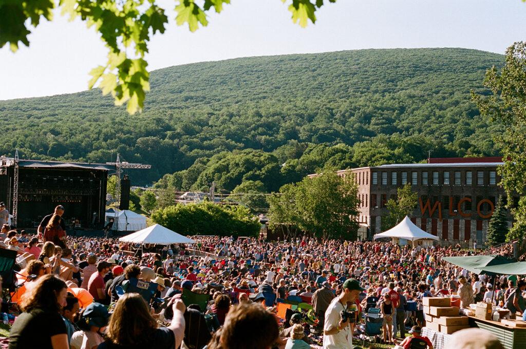 Crowd enjoying an outdoor concert in the Berkshires.