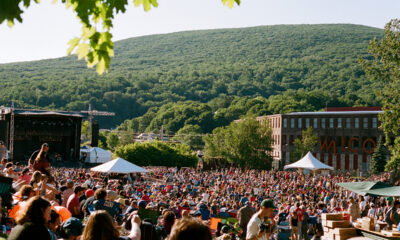 Crowd enjoying an outdoor concert in the Berkshires.