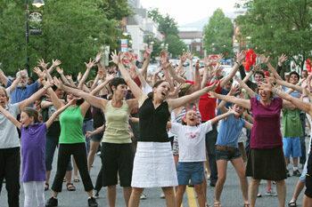 Flashmob in Williamstown