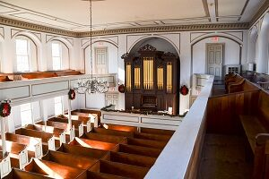 Interior of the First Parish Meeting House Preservation Society