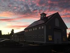 Exterior photo of the newly renovated Hopkinton Center for the Arts building