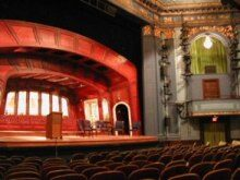 View of the stage of the Boston University Theatre