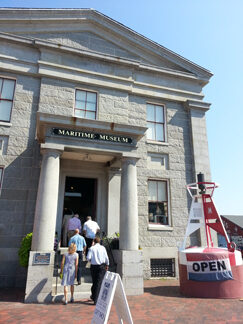 Visitors entering the Maritime Museum
